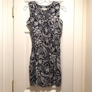 LOFT Floral Print Sleeveless Summer Dress